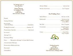 blank wedding programs beautiful sle of a wedding program pictures styles ideas