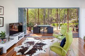Cowhide Rug In Living Room Affordable And Stylish Second Dwelling One Bedroom Home In Brisbane