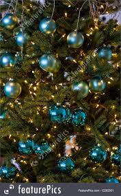 photo of blue balls on tree