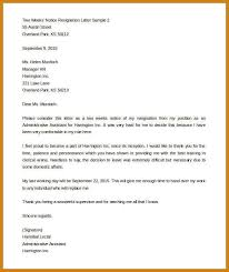 resignation letter sample word format template examples