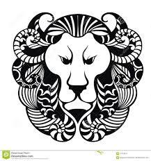 tattoo design lion lion head icon tattoo design stock vector image 67193447
