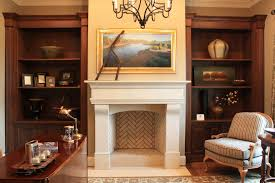 Fireplace Mantels With Bookcases Fake Fireplace Mantel Home Office Traditional With Bookcases