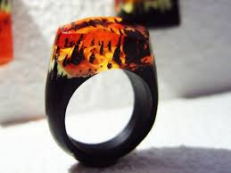 fire rings jewelry images Geppetto jewelry presents wood ring quot forest fire quot wooden rings jpg