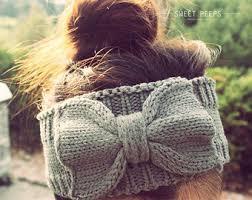knitted headbands knit headbands etsy
