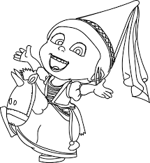 agnes minion despicable coloring page wecoloringpage