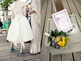 york homespun wedding ruffled
