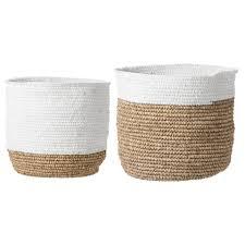 banana leaf baskets white u2013 curated nest nurseries u0026 design