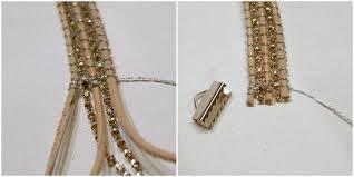 leather bracelet craft images Leather bracelet with rhinestone chain tutorial jpg