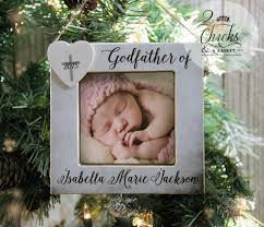 godfather ornament picture frame ornament personalized