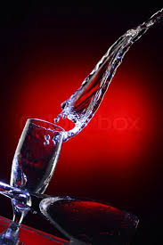 beautiful wine glasses beautiful composition of water bursts with wine glasses stock