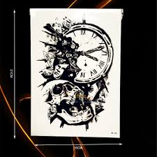 sand clock tattoo designs compare prices on clock tattoo online shopping buy low price