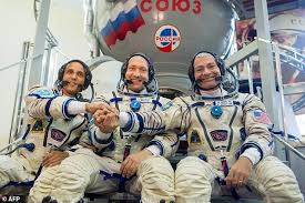 soyuz ms 06 spacecraft with three crew launched from baikonur