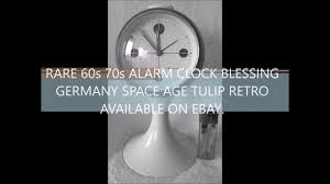 60s Clock Rare 60s 70s Alarm Clock Blessing Germany Space Age Tulip Retro