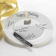signing plate birthday celebration signing plate the gift experience