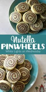nutella pinwheels white lights on wednesday