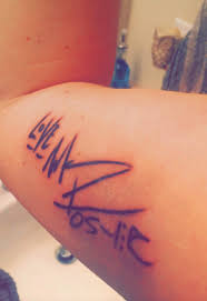 fans tattoos courtney u0027s mike posner signature tattoo mike
