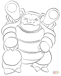 blastoise coloring free printable coloring pages