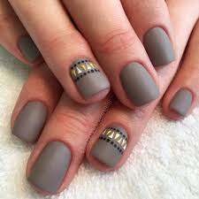 matte nails gray nails taupe nails tribal nails aztec nails nail
