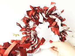 tutorial tuesday fabric scrap christmas wreath eliston button