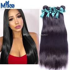 mikehair malaysian hair bundles straight human har wholesale 8