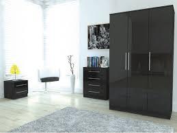 classy bedroom furniture in black gloss u2013 home design