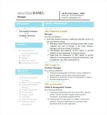 Accounting Resume Template Sample Resume In Word Format Download Latest Chartered Accountant