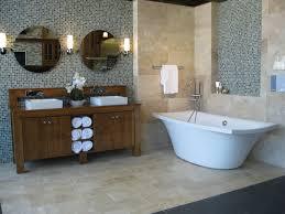 bathroom modern bathroom design with elegant kohler tubs travertine tile floor with elegant kohler tubs and mosaic tile wall plus bathroom vanity cabinets for