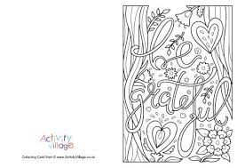 thanksgiving colouring cards