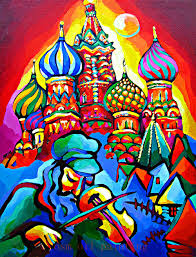 russian home decor online shop handmade abstract pure colorful church of russian oil