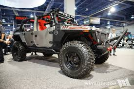 armored jeep wrangler unlimited 2016 sema rugged ridge silver jeep jk wrangler unlimited