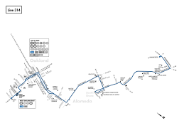 Oakland Bart Map by 314 Bus Schedule Ac Transit Sf Bay Transit