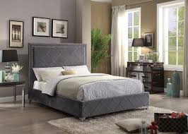 Abbyson Living Hamptons King Size Platform Bed by Grey Upholstered Bed Coaster Kyle Schuneman For Apt2b Carter