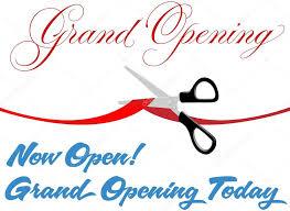 grand opening ribbon scissors cut grand opening today ribbon stock vector michaeldb