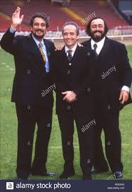 the three tenors from left placido domingo jose carreras and
