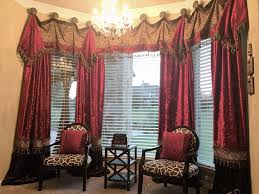luxury window treatments by reilly chance collection red u0026 dark
