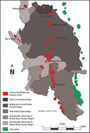 Oregon Volcano Map by Two Can Tango Recent And Ongoing Volcanism And Glaciation In The