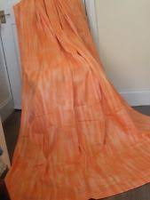 Bright Orange Curtains Vintage Retro 100 Cotton Curtains U0026 Blinds Ebay