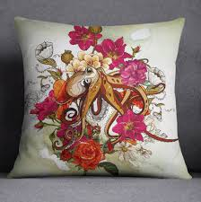 Octopus Home Octopus And Flowers Bedding Ink And Rags