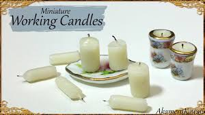 Miniature by Miniature Candles That Work Dollhouse Tutorial Youtube