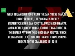 trading in a brand new car how do you trade in a car that you still owe money on