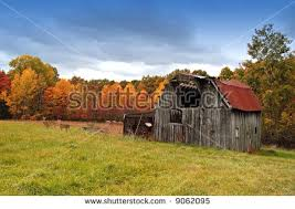 catskills farmhouse autumn delaware county ny stock photo 30609847