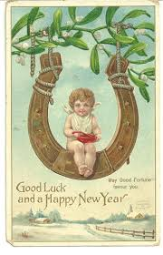 new year s postcards whispers from the past vintage postcards tell a story luck