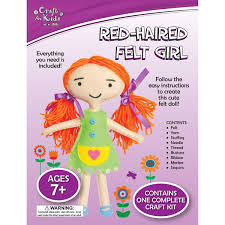 red haired felt by craft for kids bms wholesale