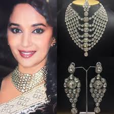 white necklace sets images White stone necklace set at rs 2240 piece s bollywood replica jpg