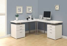 Floating Office Desk L Shaped Pedestal White Office Desk With Floating Top