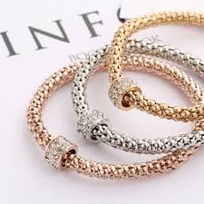 rose gold plated charm bracelet images Crystal shambala ball charm bracelets sets for women fashion jpg