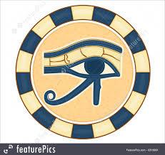 illustration of the eye of horus amulet