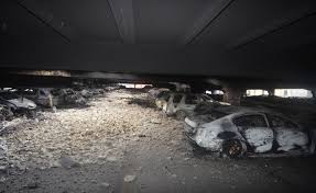liverpool car park fire pictures show aftermath of horrific nye