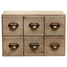 amazon com vintage style brown unfinished wood 6 drawer cabinet