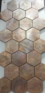 China Hexagonal Copper Wall Tile In Bronze Brushed For Kitchen - Bronze backsplash tiles